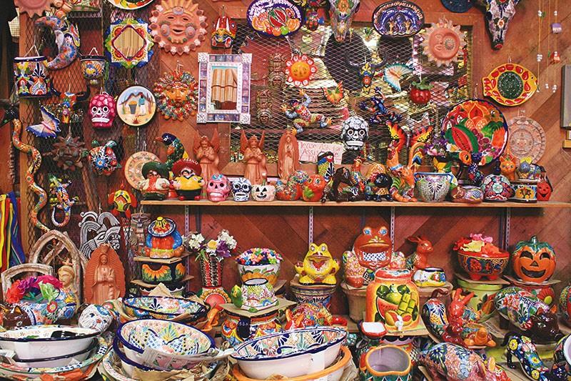 Mexican ceramics abound at El Mercado. - COURTESY