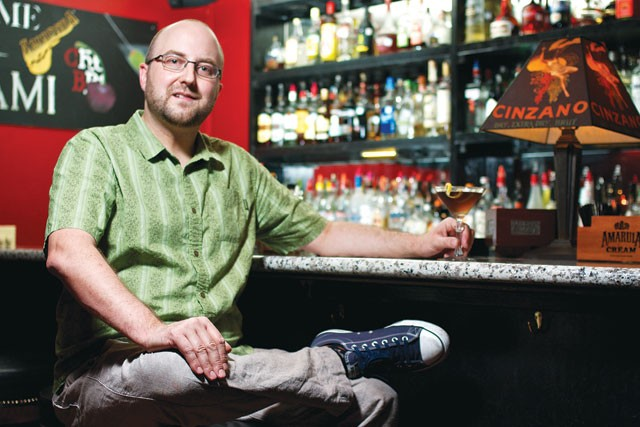 Michael Rosetti inside Bar du Mon Ami. - STEVEN GILMORE