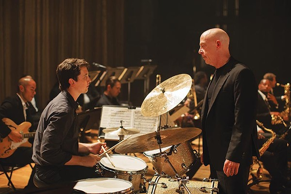 Miles Teller and J.K. Simmons hating it out in 'Whiplash' - COURTESY