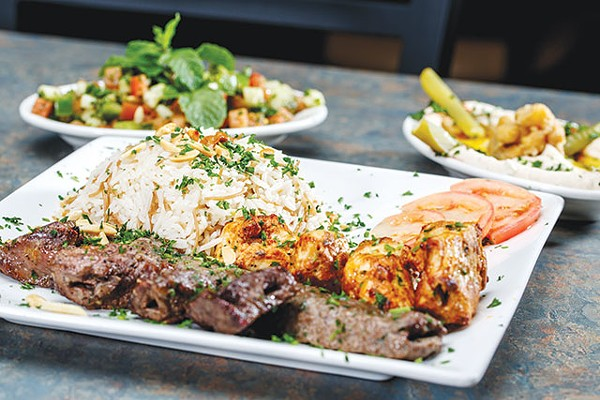 Mixed kebab plate with sides—not pictured is the amazing baklava - CASEY HOWELL