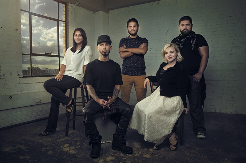 Moda Next designers Valerie Perez, Christian Alonzo, Bruno Horwath, Blanquita Sullivan and Joey Ramirez - COURTESY