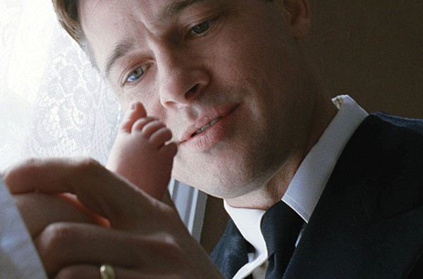 Mr. O'Brien (Brad Pitt) in a rare moment of tenderness in The Tree of Life. - COURTESY PHOTO