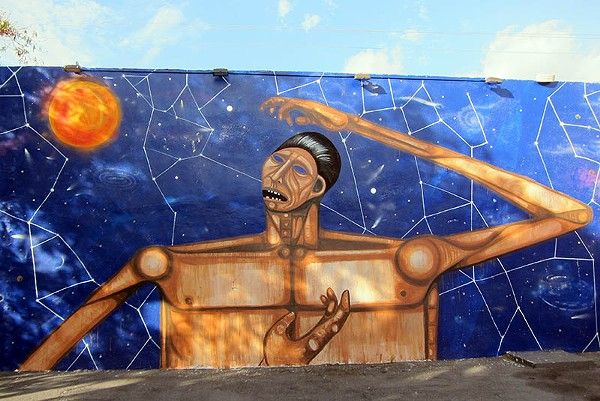 Mural by LA's The Date Farmers - COURTESY