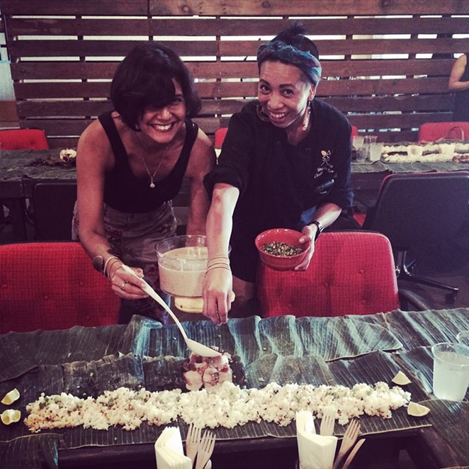 Rebel Mariposa and chef Yana Gilbuena during an event in 2014 - COURTESY