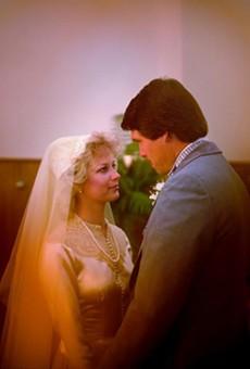 Texas Governor Rick Perry was in court Thursday, on his 32nd wedding anniversary.
