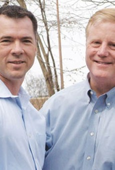 Victor Holmes and Mark Phariss, the same-sex couple who, along with Cleopatra De Leon and Nicole Dimetman, are challenging Texas' same-sex marriage ban.