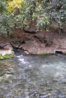 The Edwards Aquifer feeds the gorgeous Comal springs.