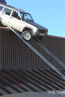 Texas officials are hoping increased law enforcement presence on the border is stopping drug smugglers in their tracks. These smugglers, however, stopped their own smuggling attempt in Southern California when they tried to drive a jeep over the border fence.