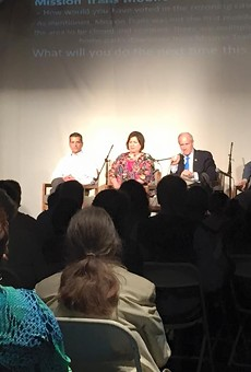 The Esperanza Peace & Justice Center held an intriguing mayoral forum concerning gentrification today. Candidates Mike Villarreal, Leticia Van de Putte, Tommy Adkisson and Rhett Smith attended.