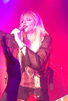 Courtney Love at Paper Tiger on May 8, 2015.