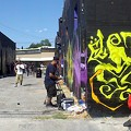 New street art marks the source