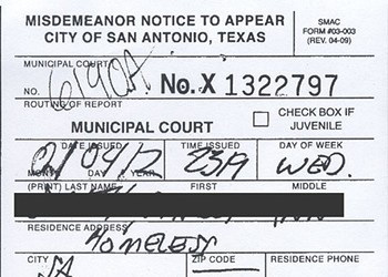 SAPD Issues Thousands of Tickets for Homelessness