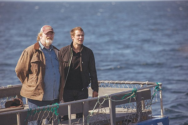 Old liar Murray French (Brendan Gleeson) and dum-dum doctor Paul Lewis (Taylor Kitsch) search the horizon in vain for sensible plotlines - ENTERTAINMENT ONE FILMS