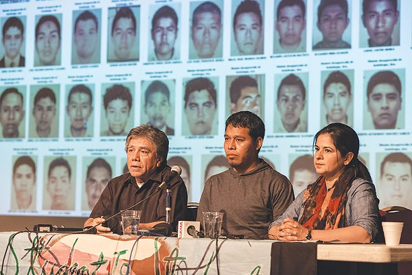 Omar Garcia (left, in the middle) survived a mass kidnapping last year in rural southern Mexico, but his colleagues may not have. Garcia's taking the case to an international court in DC. - SARAH BROOKE LYONS
