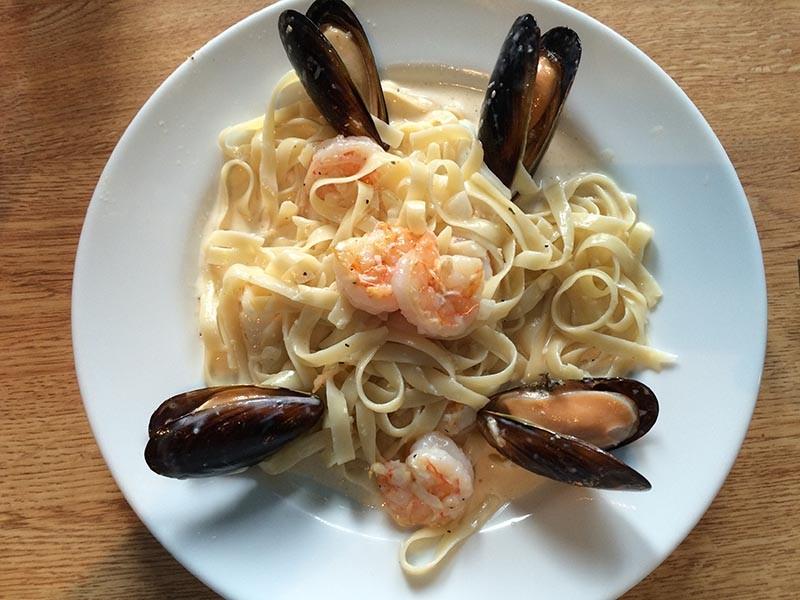 One of three Italian dishes available at Lupita's - JESSICA ELIZARRARAS
