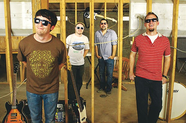 One thing we forgot to ask White Elefant (Josh Mathis, Dave Novak, Cass Grady, and W.J. Robinson): What's with the sunglasses? - COURTESY PHOTO