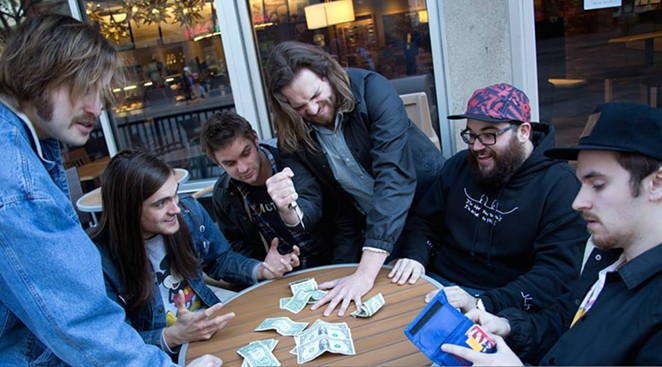 Nashville's Diarrhea Planet playing a high-stakes game of Five Finger Fillet - VIA FACEBOOK
