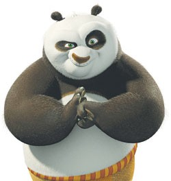 Po the panda is going to beat you up in front of your kids.