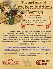 ARTWORK BY WADE DILLON - Poster for Fiddle Festival March 7th