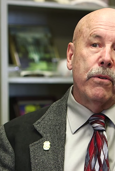 This screen shot shows Russell Jones, a former California cop and Texas Hill Country resident, who is featured in a Marijuana Policy Project television advertisement.
