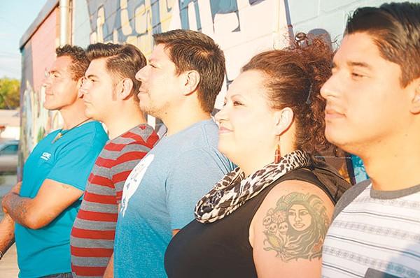 Queer Collective's Ernesto Olivo, Beto DeLeon, Misha Ortiz, Rossalyn Warren and Manuel Davila - JULIAN P. LEDEZMA