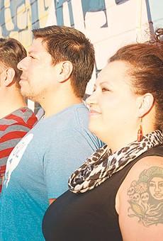 Queer Collective's Ernesto Olivo, Beto DeLeon, Misha Ortiz, Rossalyn Warren and Manuel Davila