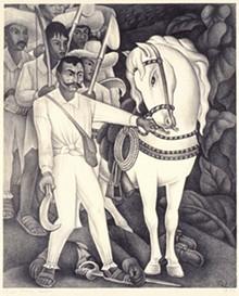Revolutionary, sure. But Mexico's Emiliano Zapata isn't a hero to all. - DIEGO RIVERA, ZAPATA (DETAIL), 1932