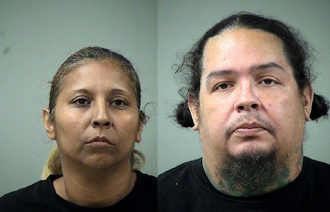 Belinda Garza and Richard Castillo are accused of lacing candy with drugs. The Bexar County Sheriff and San Antonio Police Departments arrested the duo on Halloween. - BEXAR COUNTY SHERIFF'S OFFICE