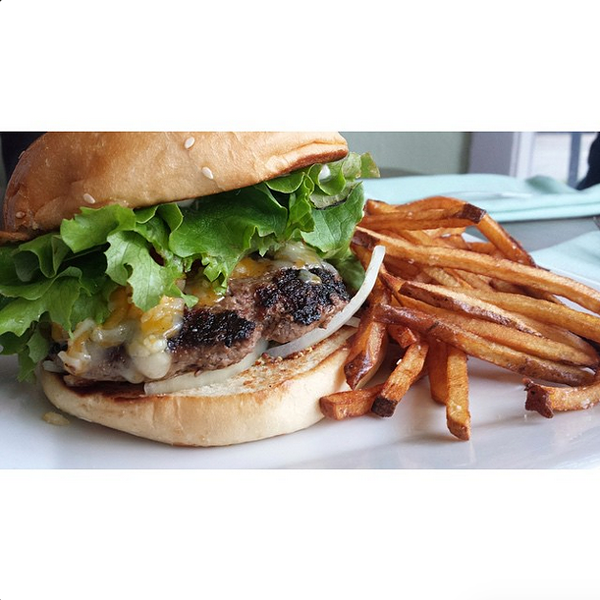 Find out where a local user found this tasty burger. - @S.A.VORY/INSTAGRAM