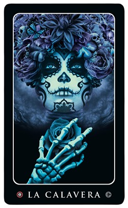 'La Calavera' art by John Picacio, from his Loteria Grande card series. © 2014 John Picacio - JOHN PICACIO