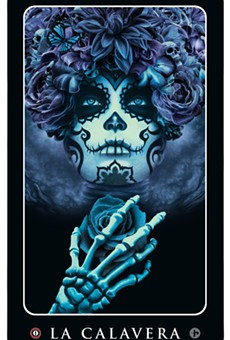 'La Calavera' art by John Picacio, from his Loteria Grande card series. © 2014 John Picacio