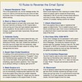 Save Our Inboxes, 10 Rules to Reverse the Email Spiral