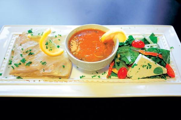 Seafood Bastilla, Harira Soup, and Mediterranean Salad - PHOTO BY SUNNI HAMMER