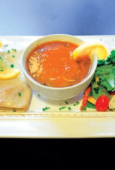 Seafood Bastilla, Harira Soup, and Mediterranean Salad