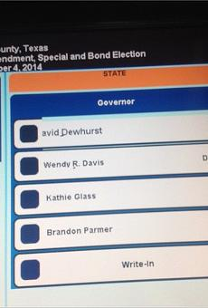 So It Turns Out the Dewhurst Ballot Mistake Wasn't Fake After All