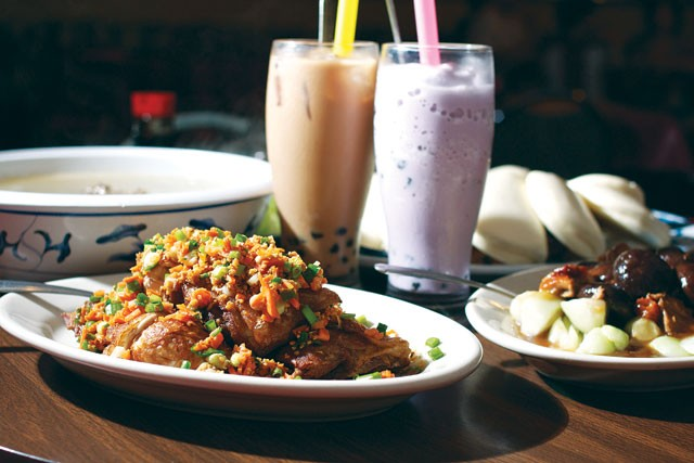 Special chicken, bubble tea, and other dishes from Kim Wah. - STEVEN GILMORE