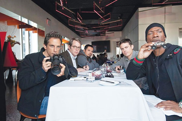 Stiller, Broderick, Peña, Affleck, and Murphy getting ready to occupy Wall Street. - COURTESY PHOTO