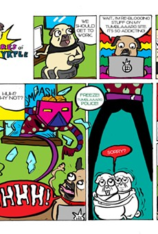 Sunday Comic: The Adventures of Pizza and Myrtle