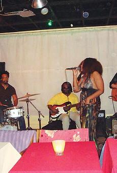 Tameca Jones leads her band through a soulful set at Carmens de la Calle Café.