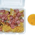 Taste This: Sausage & Queso Platter, $5.95