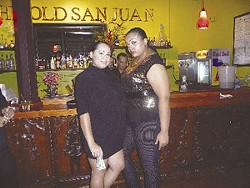 Teonna Rector and Chanel N. Singleton at Old San Juan.