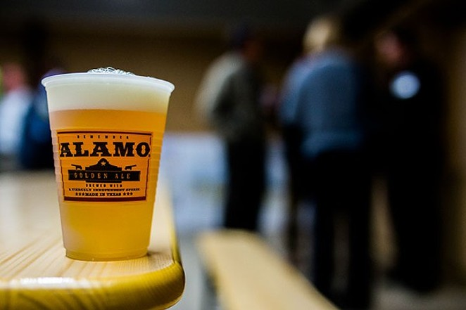 A federal judge says the Alamo image in the Alamo Beer Company logo has to go away. - SCOTT BALL/ALAMO BEER COMPANY