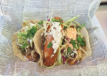 Road Food: Beer-battered fish tacos from Duke's Seafood & Grill