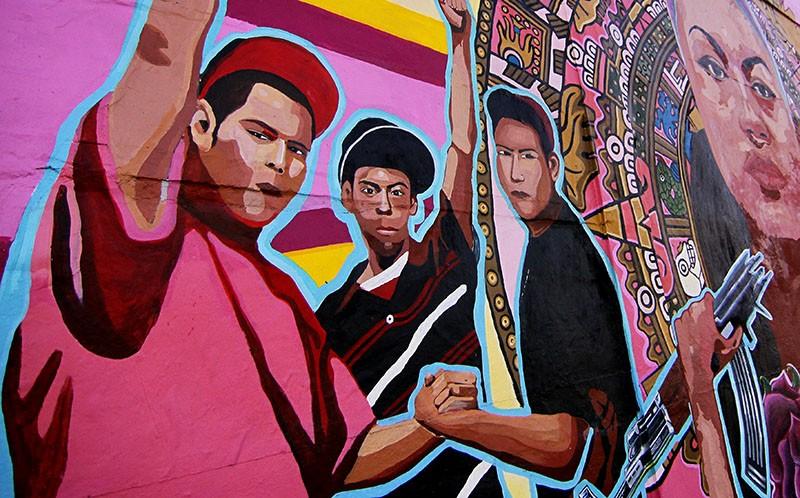 The Alamo City displays its Mexican-American heritage through vivid street art. - COURTESY
