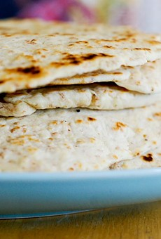 The astronauts may eat tortillas, but they aren't the delicious homemade kind.