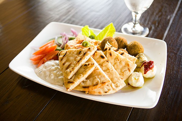 The falafel plate at Alberico Fine Wine may not be their best offering. Try it and let us know. - DAN PAYTON