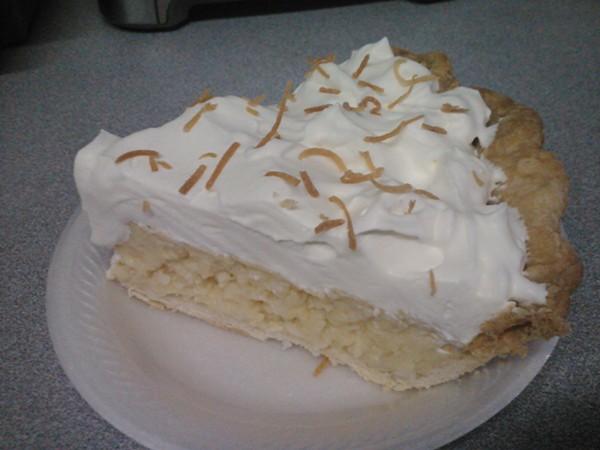 The famous coconut cream pie - COURTESY