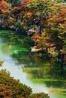 The Frio River is a secluded alternative to the usually packed New Braunfels scene.