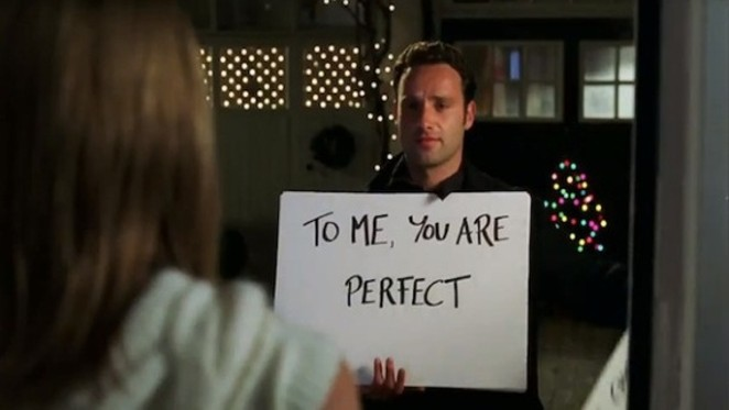 From the imperfect holiday classic, 'Love Actually'