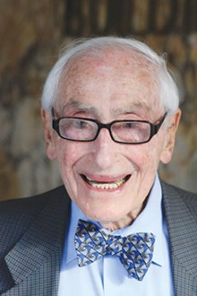 The late Bill Sinkin in his trademark bow tie. Sinkin pioneered solar energy in San Antonio.